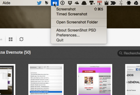 Actions de Screenshot PSD