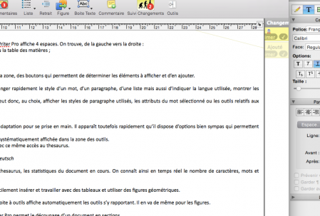Zone des outils