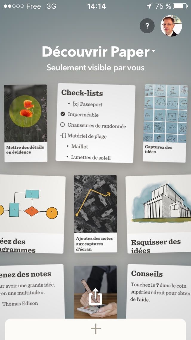 Paper by FiftyThree - carnet
