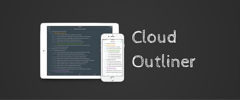 Cloud Outliner iPad iPhone Mac