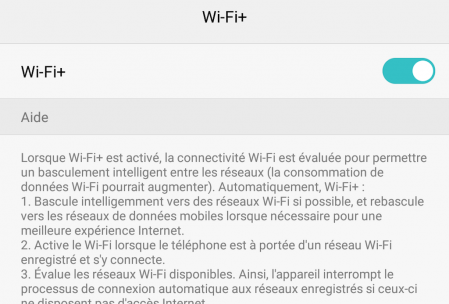 Honor 6X fonction wifi+