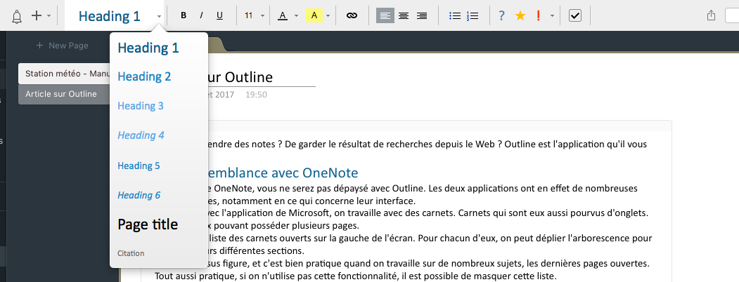 outline  un outil de prise de notes efficace