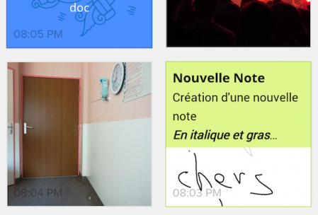 Notebook sur smartphone Android