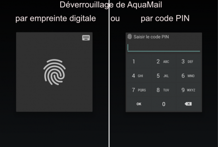 Deverrouillage Aqua Mail