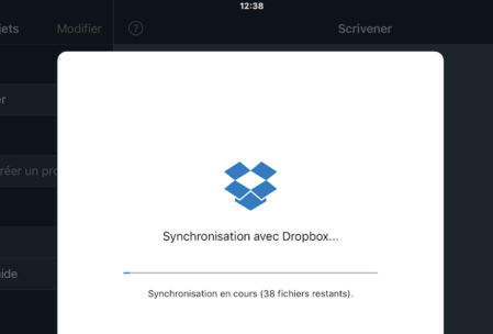 Synchronisation Scrivener via Dropbox
