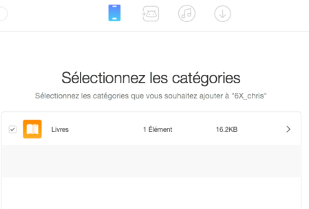 Copie fichiers du Mac vers smartphone via AnyTrans for Android