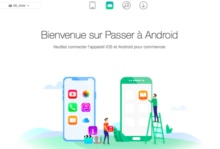 Passer de iOS à Android avec AnyTrans for Android