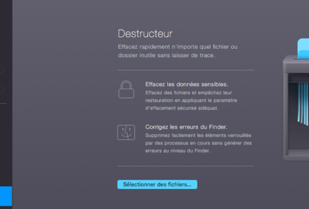 Module Destructeur de CleanMyMac 3