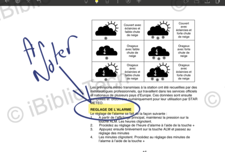 Annotation de PDF dans Noteshelf 2