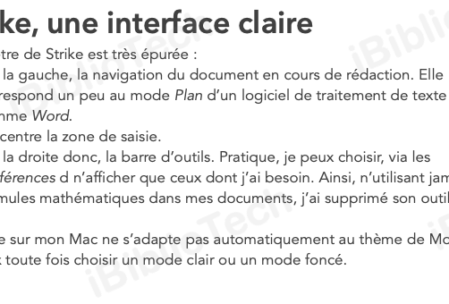 L'interface de Strike sur mon Mac