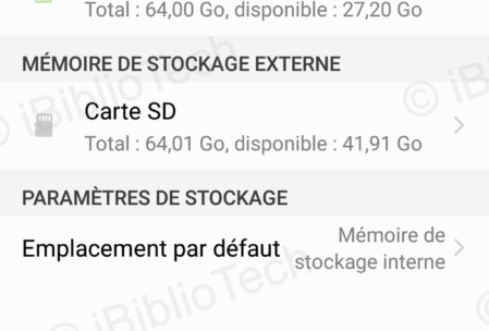 Stockage du Honor Play