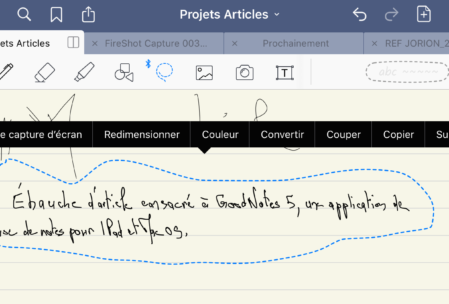 Conversion du texte manuscrit dans GoodNotes 5